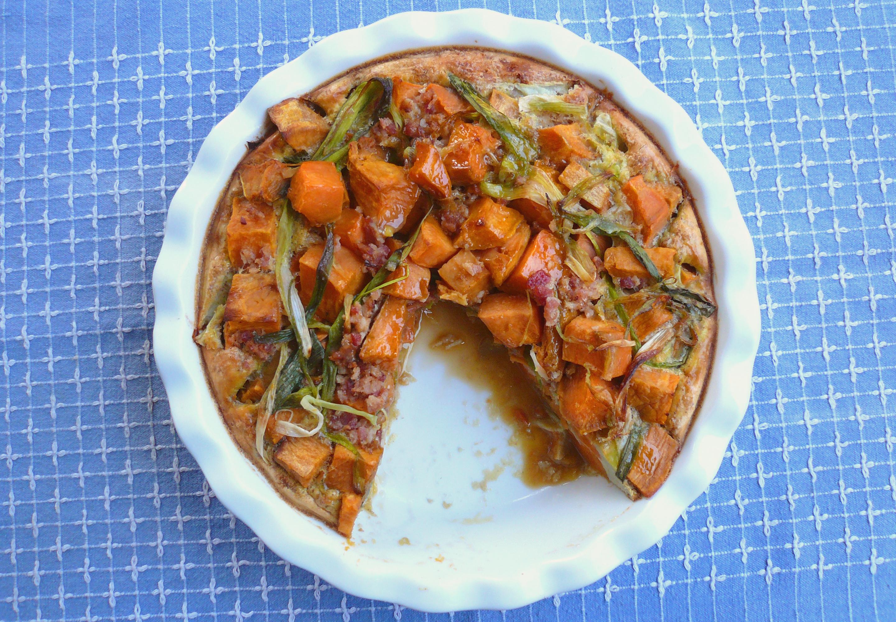 Sweet Potato Quiche - GrokGrub