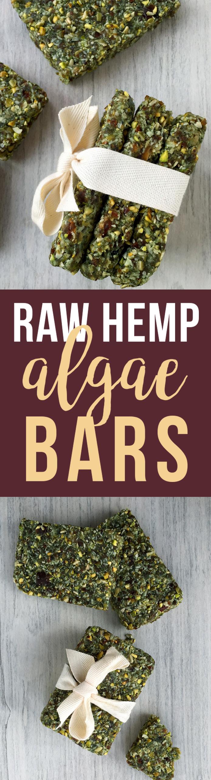 Raw Hemp Algae Bars (grain/dairy/sugar free, paleo, vegan) | Fresh Planet Flavor
