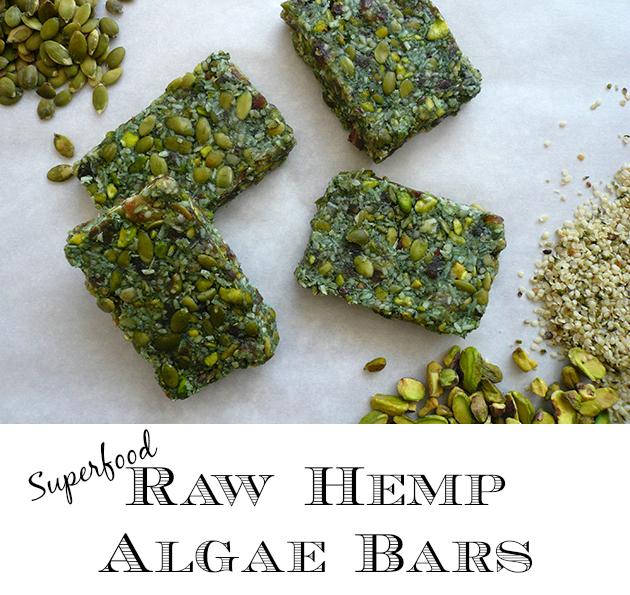 Raw Hemp Algae Bars - GrokGrub.com