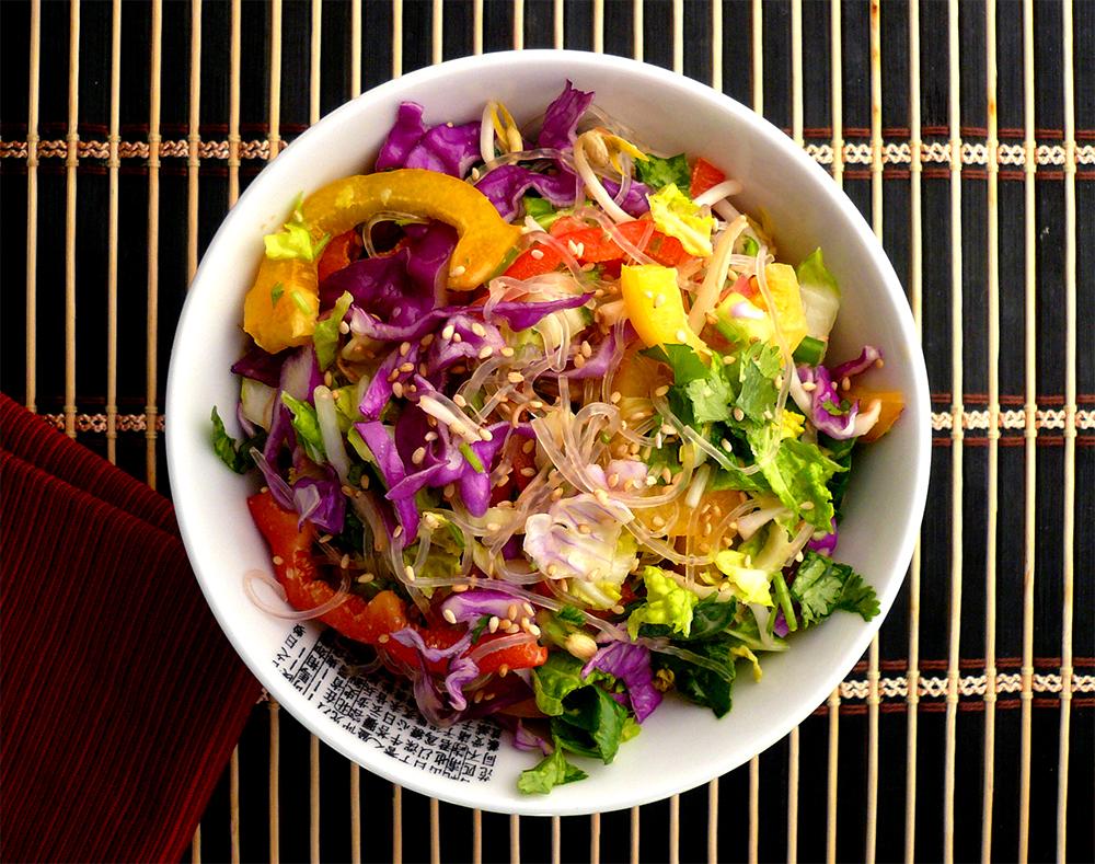 Asian Noodle Salad - GrokGrub