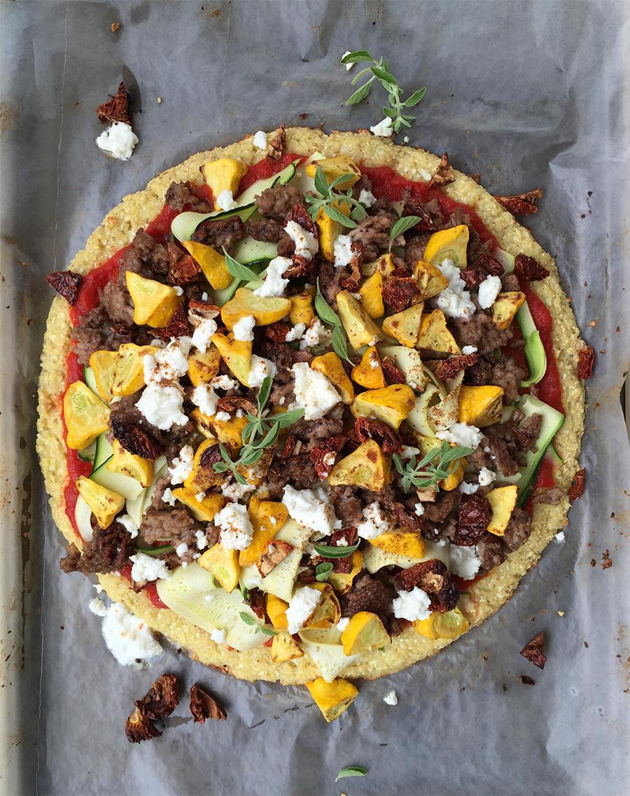 Ras El Hanout Pizza (cauliflower crust) | GrokGrub.com