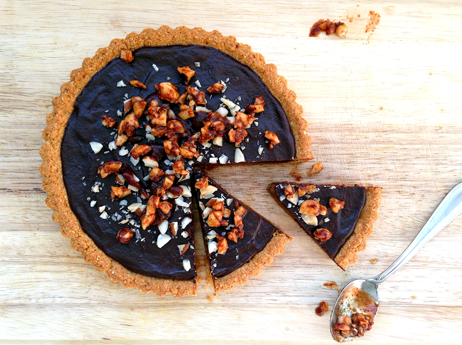 Montezuma's Spicy Chocolate Tart - Grok Grub