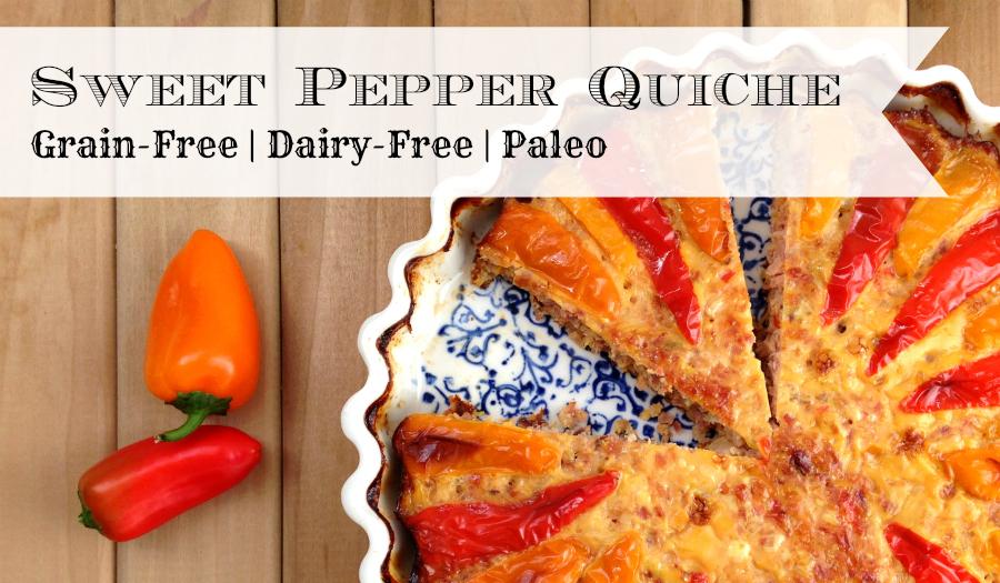Sweet Pepper Quiche - GrokGrub.com