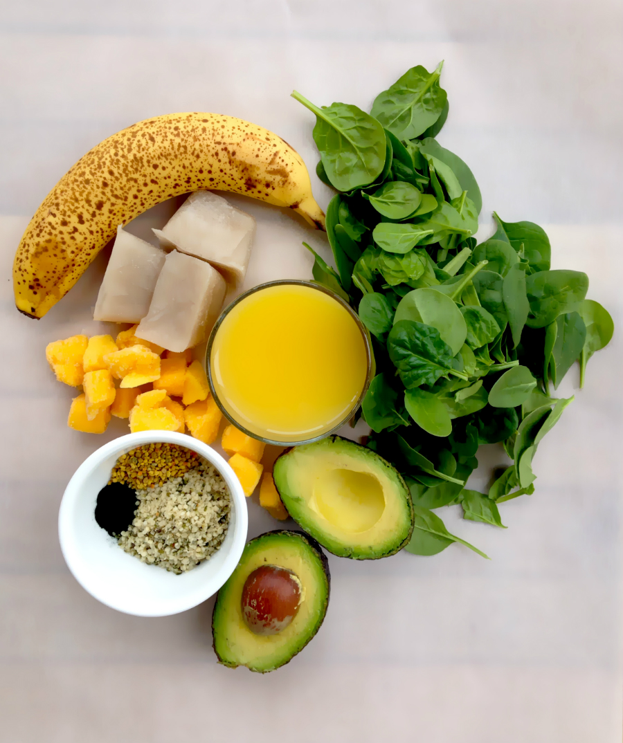 Green Breakfast Smoothie Ingredients - GrokGrub.com