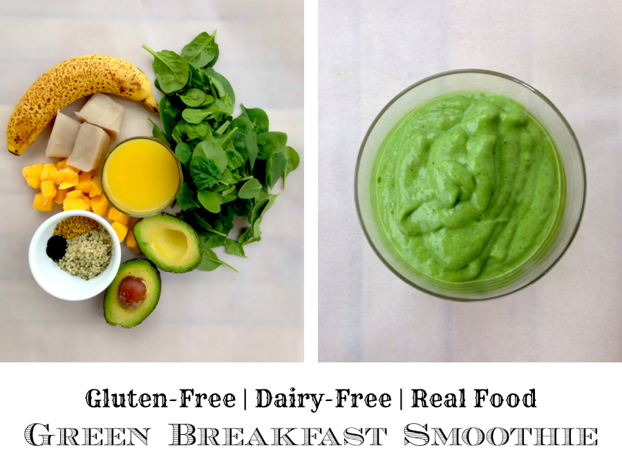 Green Breakfast Smoothie - GrokGrub