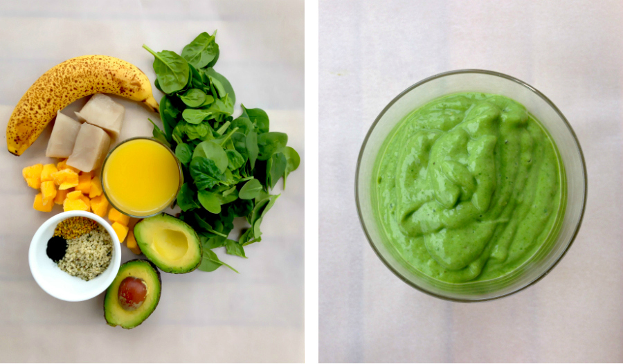Green Breakfast Smoothie | GrokGrub.com