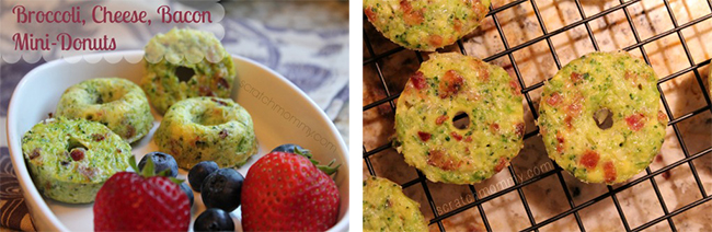 Grain-Free, Primal Broccoli, Cheese and Bacon Donuts by Scratch Mommy (#NationalDonutDay Roundup) | GrokGrub.com