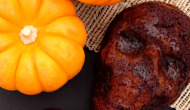 Chocolate Pumpkin Cake Skulls