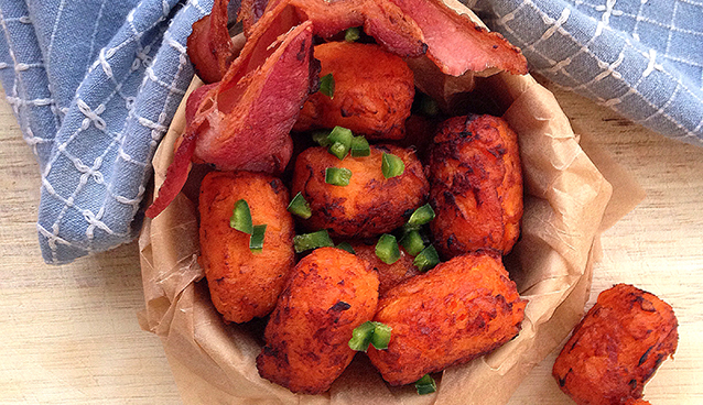 Sweet Potato Tater Tots from the Frugal Paleo Cookbook | GrokGrub.com