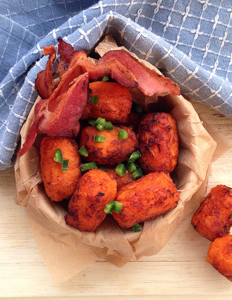 Sweet Potato Tater Tots from the Frugal Paleo Cookbook   Fresh Planet Flavor