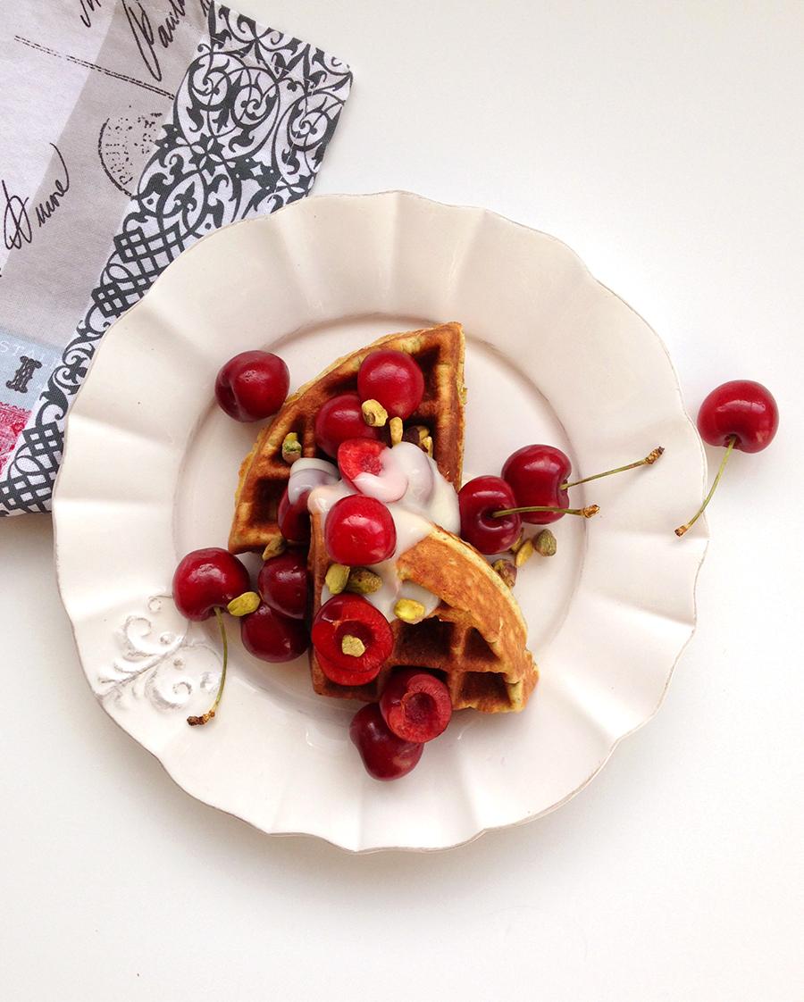 Pistachio Waffles (grain-free, gluten-free, paleo)   Fresh Planet Flavor