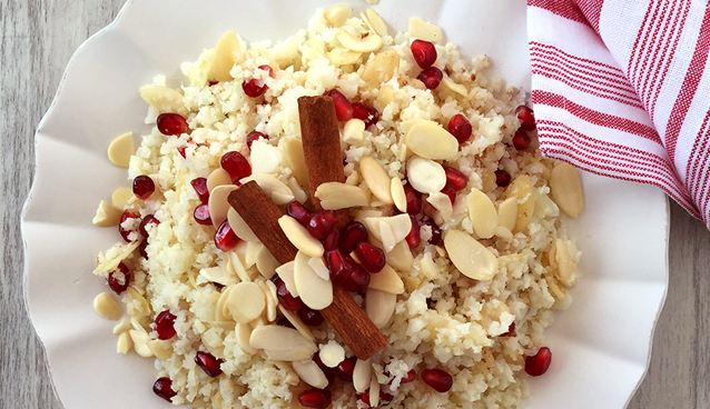 Scheherazade's Cauliflower with Pomegranate, Almonds and Cinnamon | GrokGrub.com