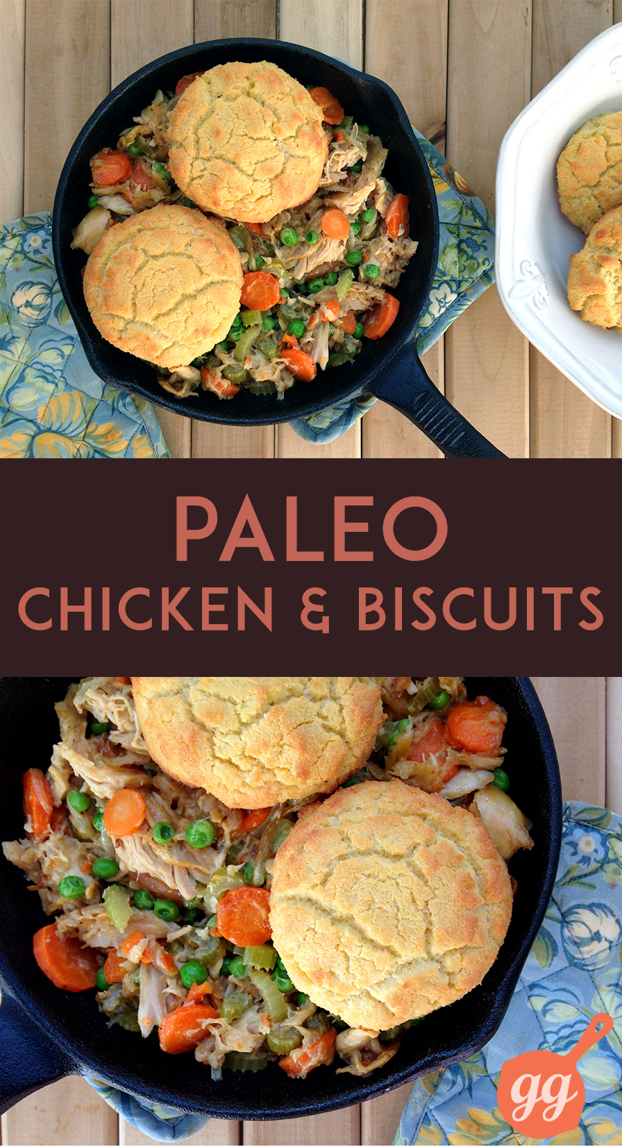 Paleo Chicken and Biscuits (grain-free, dairy-free, paleo) | GrokGrub.com #grainfree #healthy #paleo #dinner
