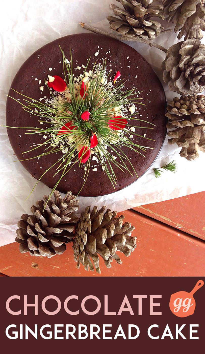 Chocolate Gingerbread Cake (nut-free, gluten-free, dairy-free) | GrokGrub.com