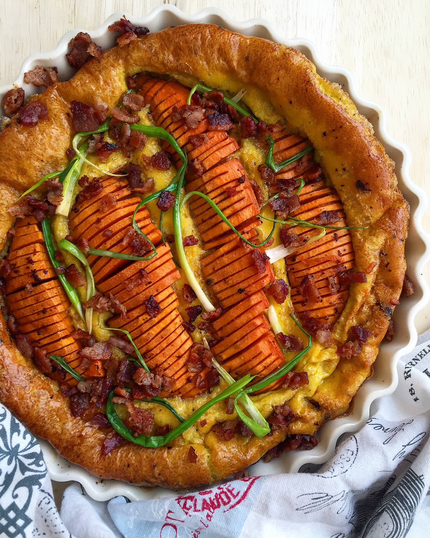 This sweet potato frittata creation rose from the ashes of a recipe ...