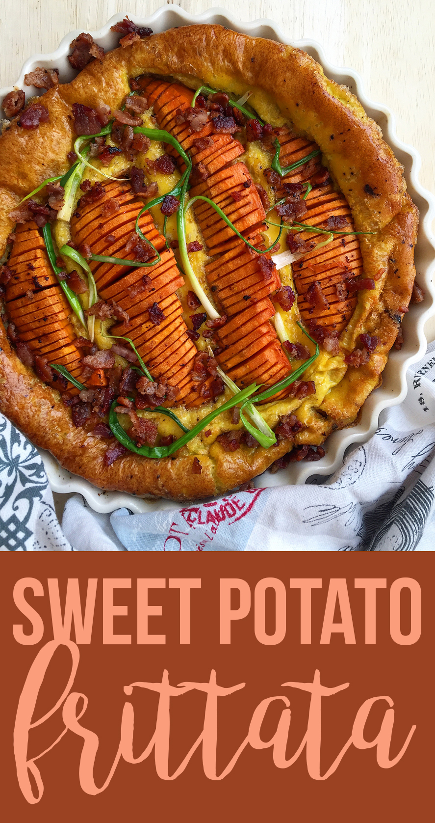 This sweet potato frittata is an easy rendition of the wonderful breakfast combination of sweet potatoes, eggs and bacon (grain-free, dairy-free, paleo) | Fresh Planet Flavor