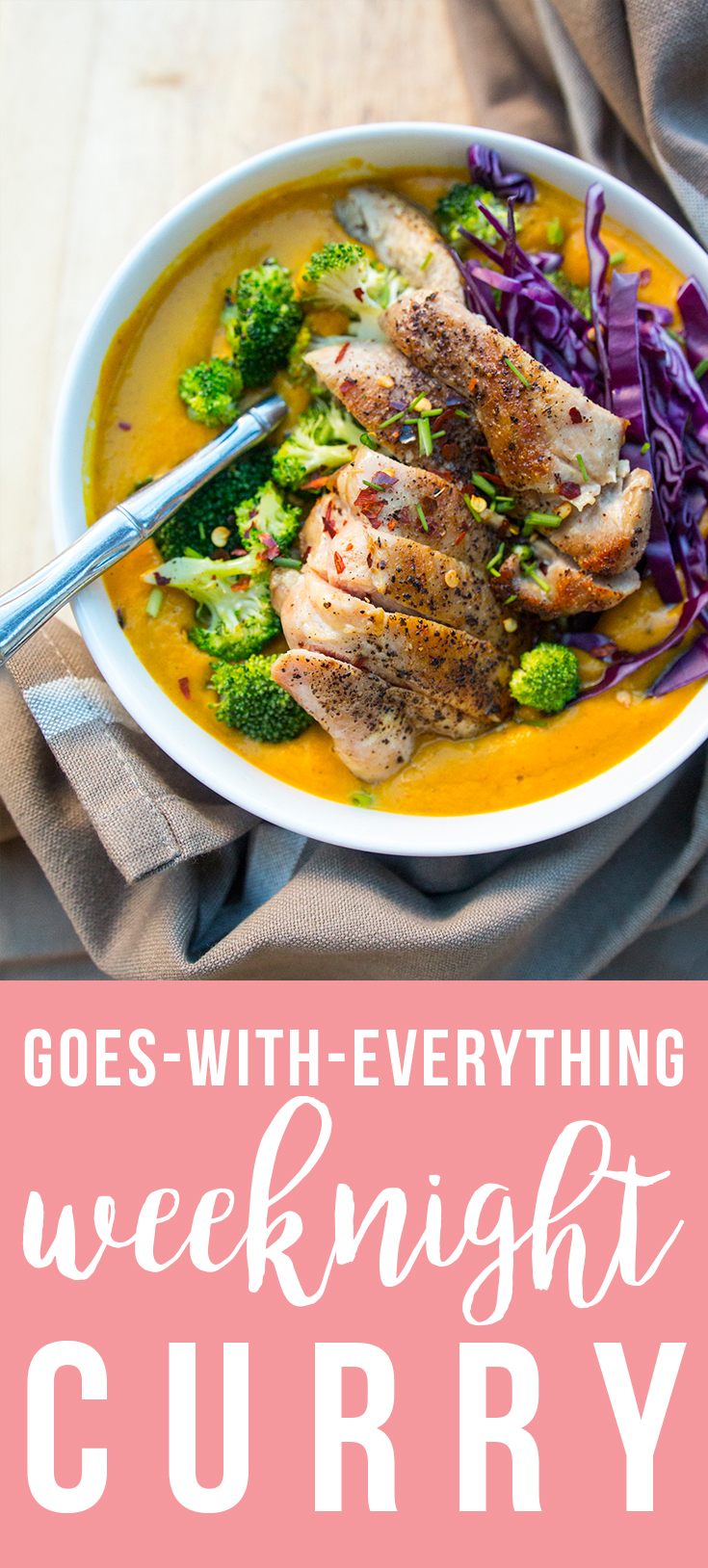 """This """"Goes-with-Everything"""" Weeknight Curry is the perfect base for all kinds of toppings! 