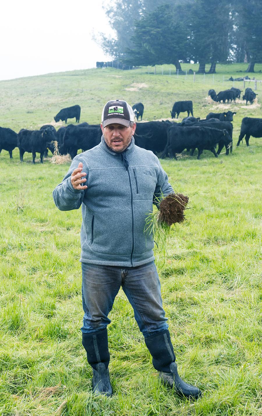 Loren Explaining Pasture: Carbon Farmed Beef @ Stemple Creek Ranch | Fresh Planet Flavor