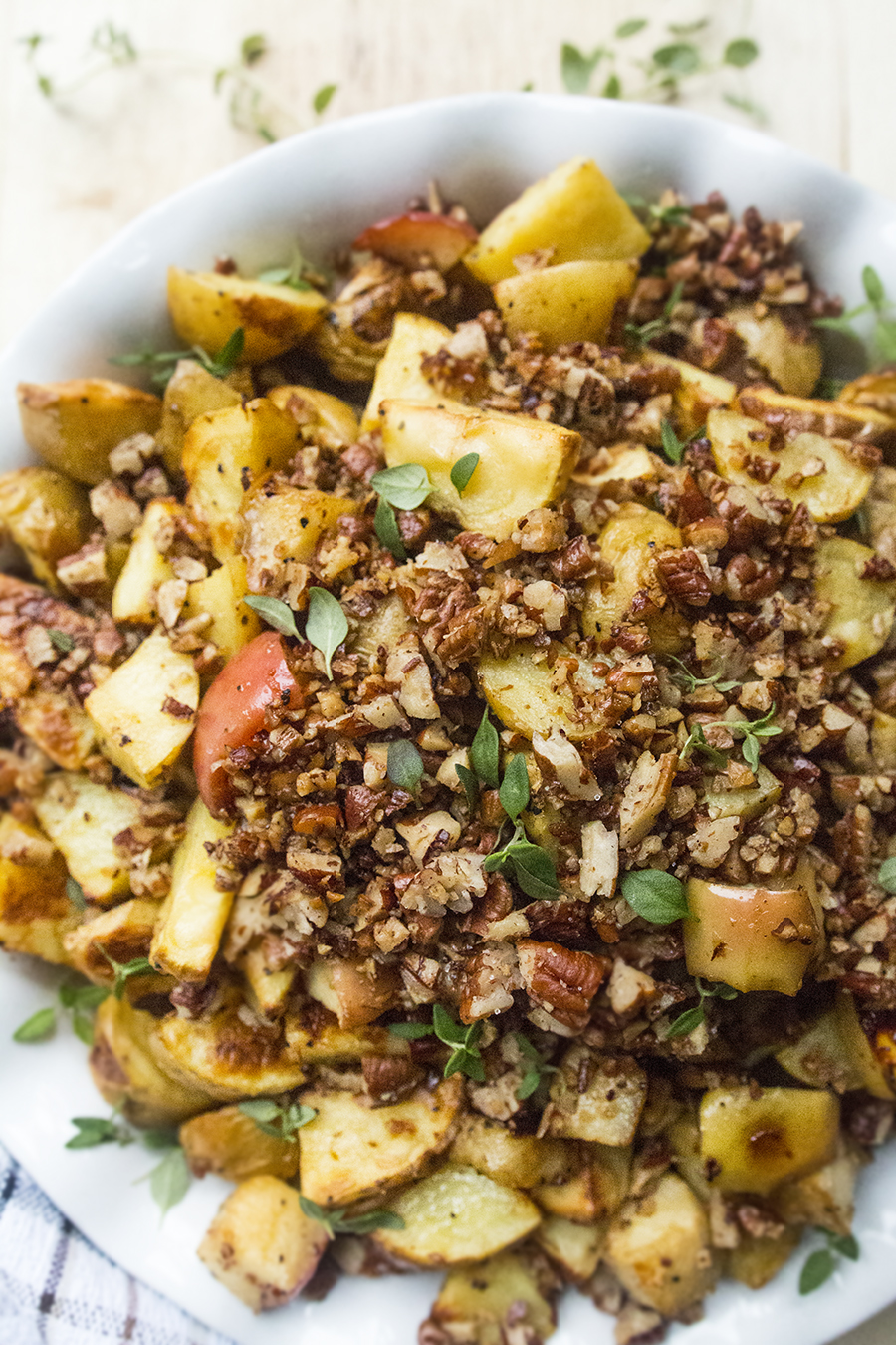 Mustard-Roasted Potatoes & Apples (and How to Fight Food Waste with ...
