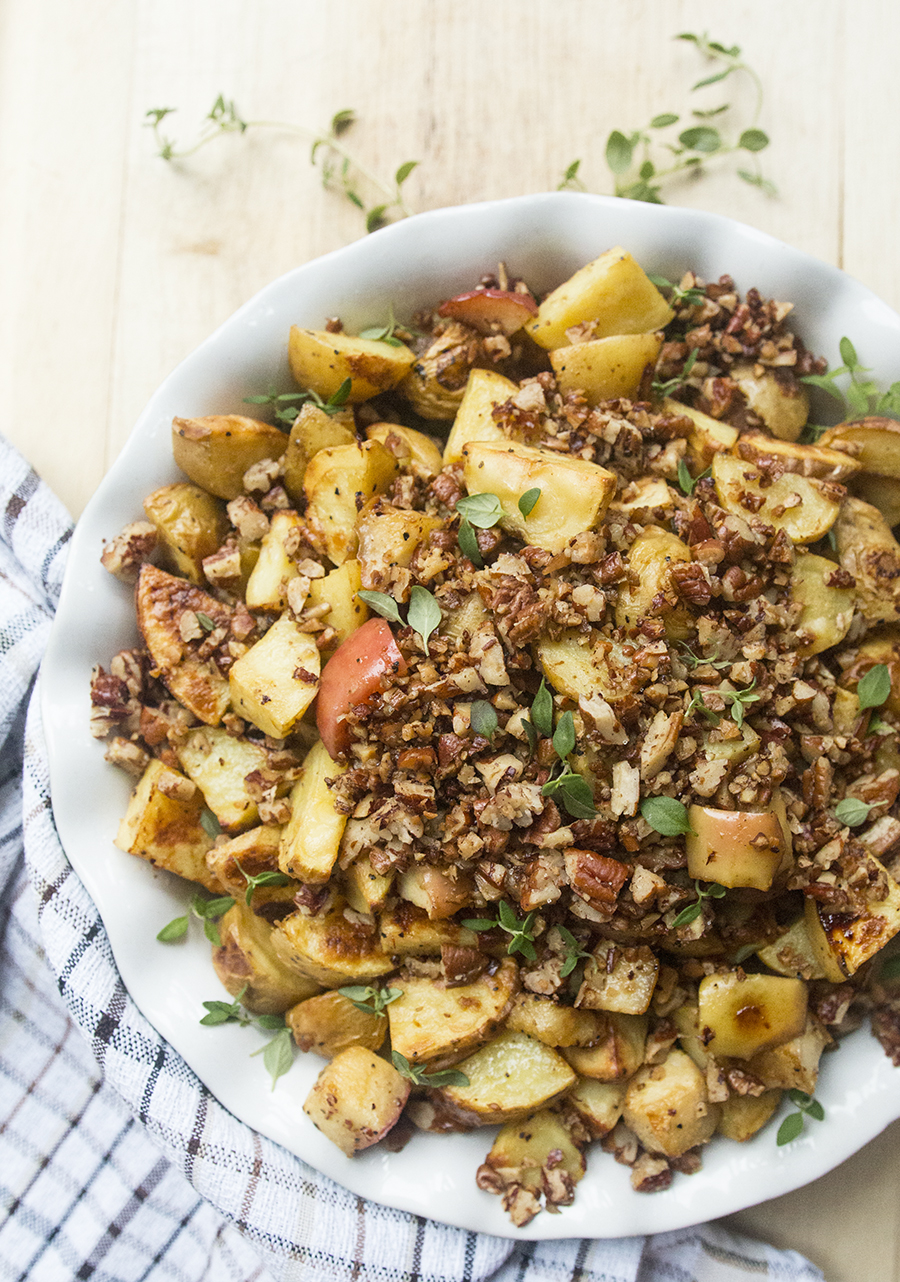 Add these Mustard-Roasted Potatoes & Apples made with Hungry Harvest produce to your easy weeknight vegetables rotation... | Fresh Planet Flavor
