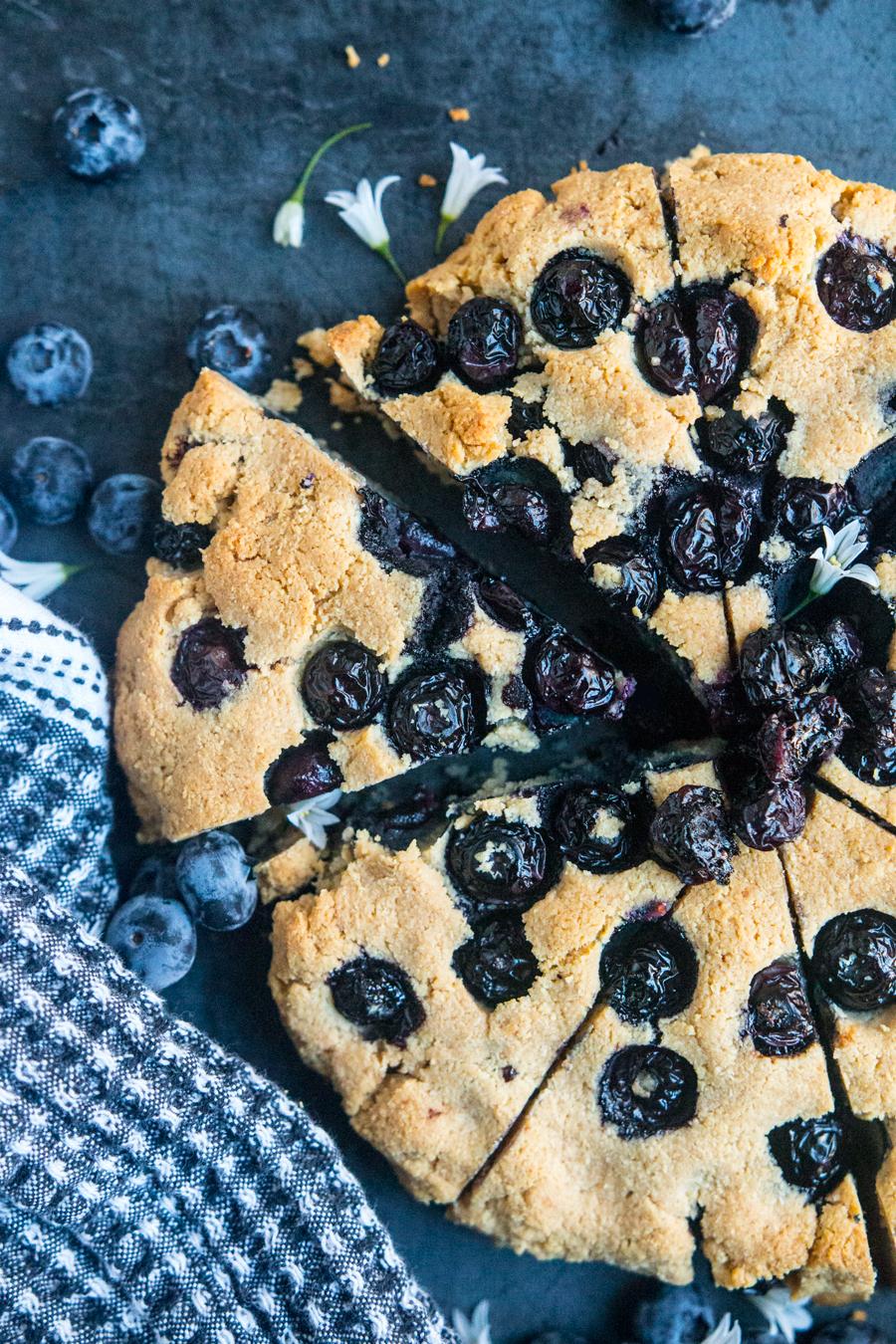 Blueberry Almond Scones (Grass-Fed Ghee) | Fresh Planet Flavor