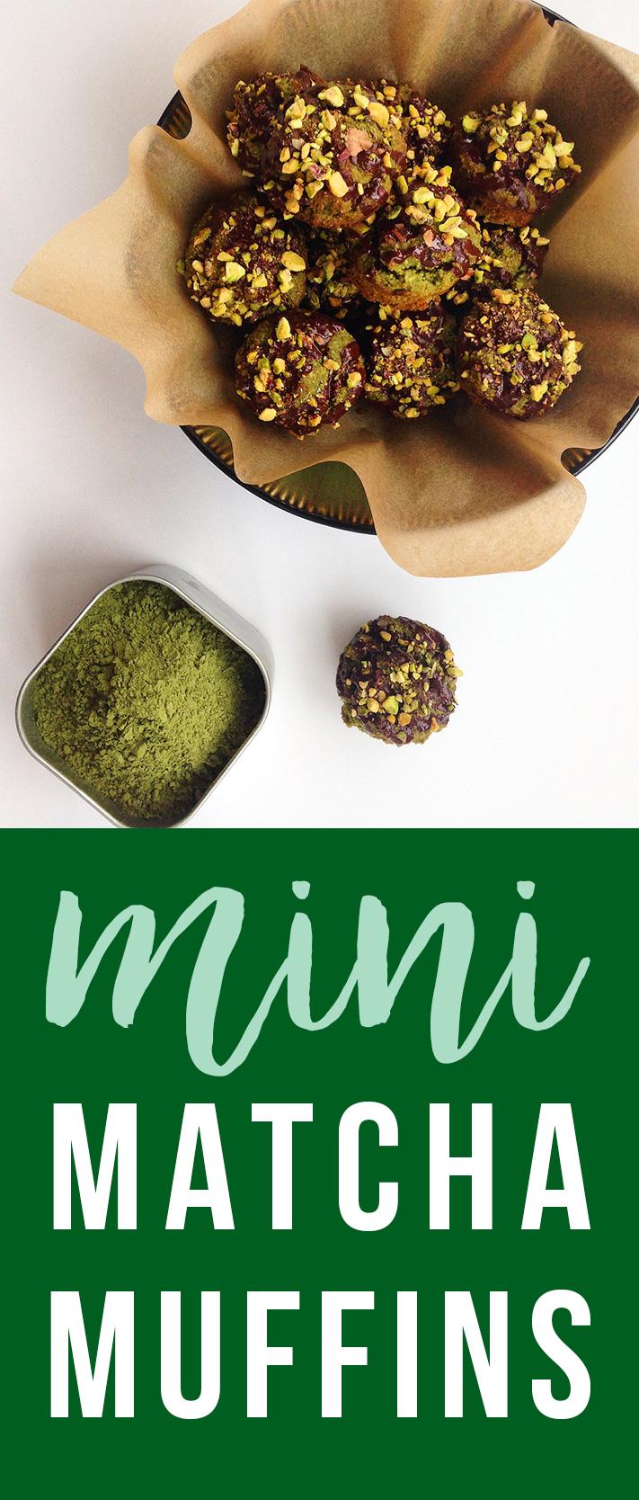Tiny muffin with bigi matcha flavor!