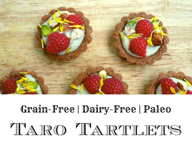 GrokGrub.com - Taro Tartlets (Grain/Dairy/Sugar Free, Paleo)