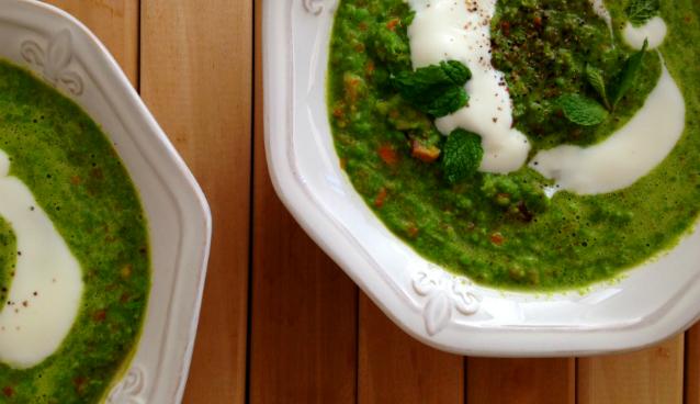 Green Pea Soup - GrokGrub.com