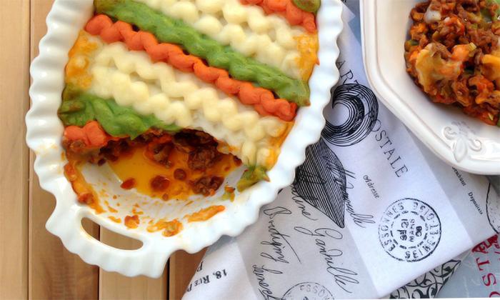 Tricolor Paleo Shepherd's Pie - Fresh Planet Flavor
