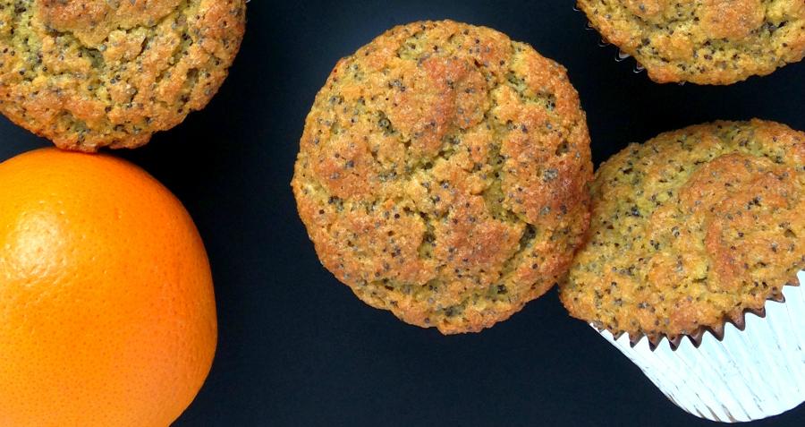 GrokGrub.com - Orange Poppy Seed Flax Muffins | Grain-Free
