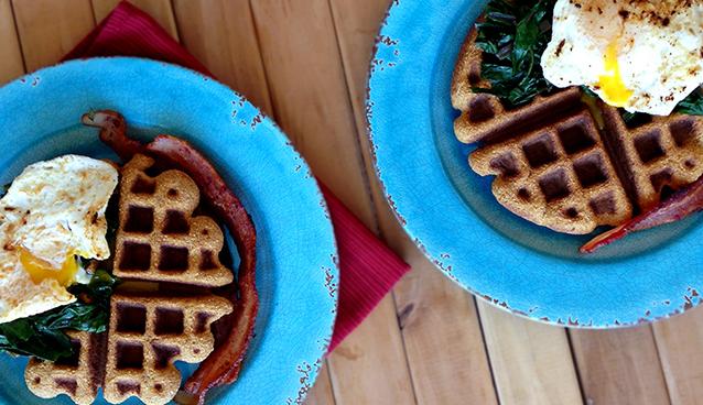 Savory Sweet Potato Waffles Recipe (Paleo, Grain/Nut/Dairy/Sugar-free) | GrokGrub.com