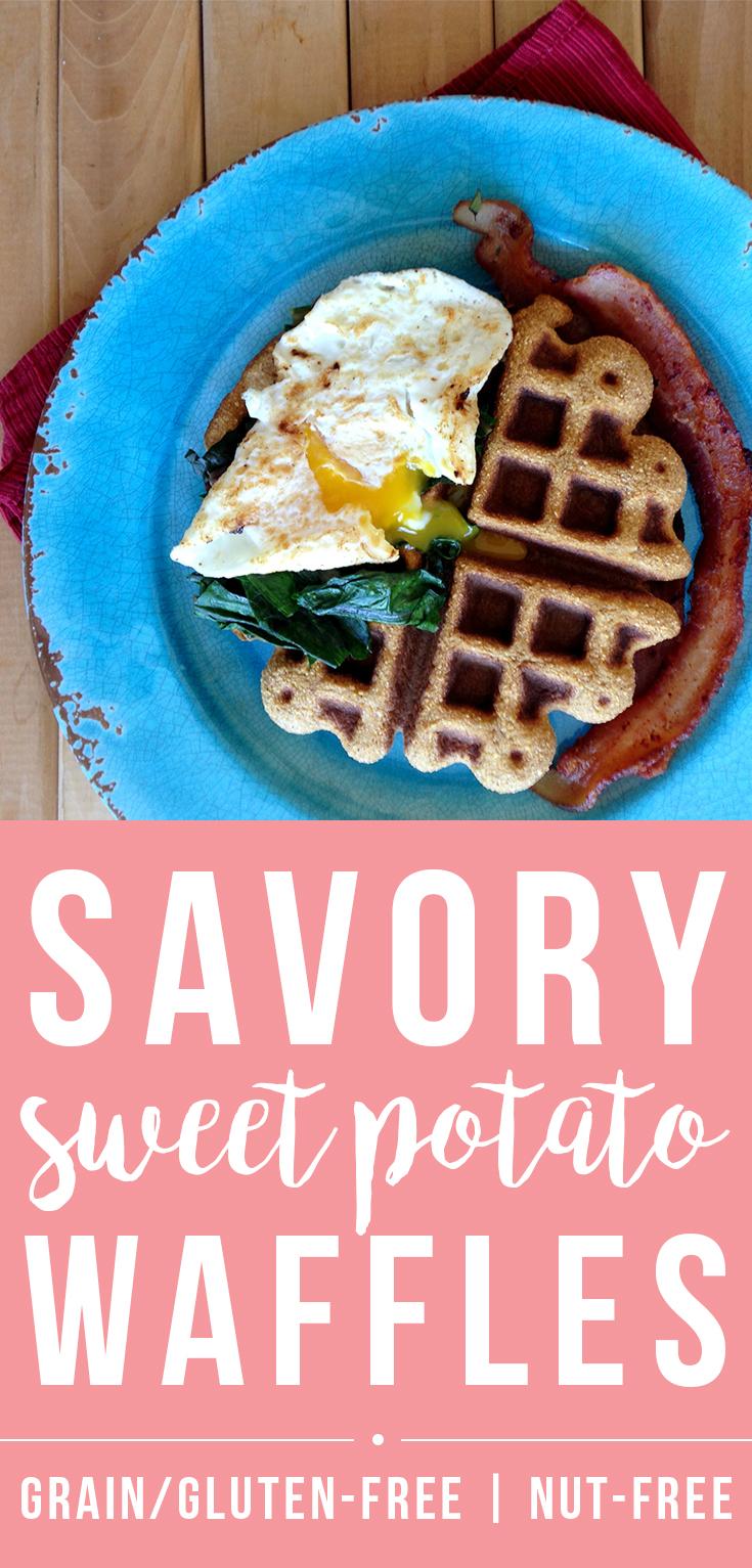 Savory Sweet Potato Waffles Recipe (Paleo, Grain/Nut/Dairy/Sugar-free) | Fresh Planet Flavor