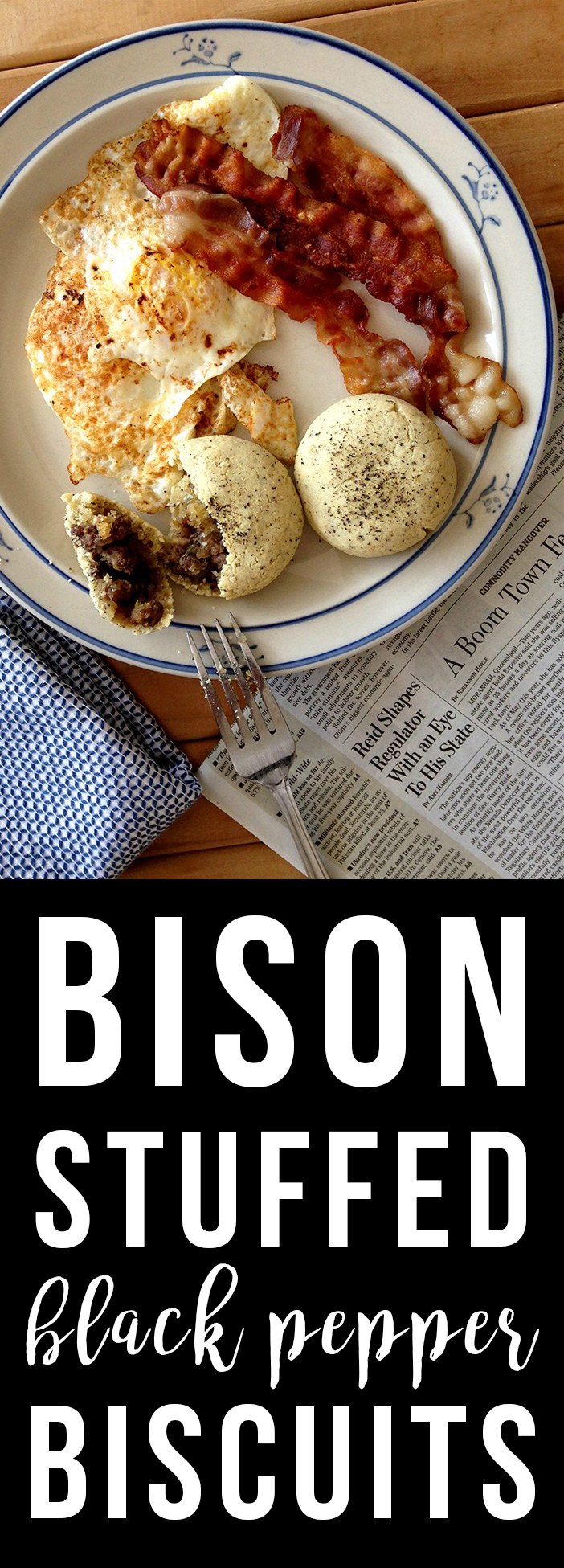 Bison-Stuffed Black Pepper Biscuits (grain-free, paleo) | Fresh Planet Flavor