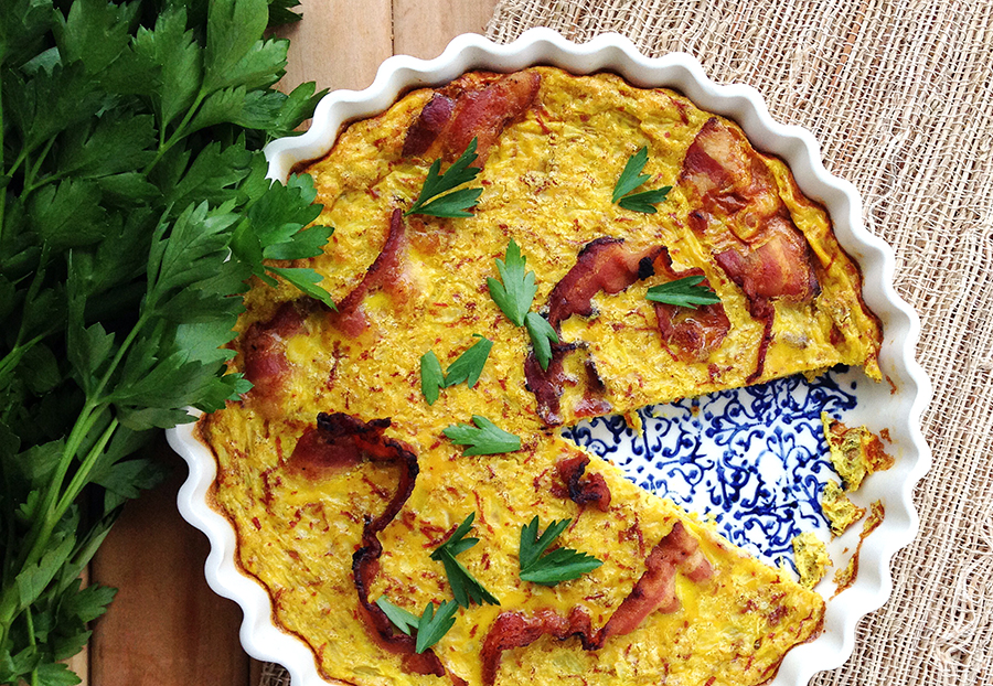 Bacon Turmeric Quiche (dairy-Free) | Fresh Planet Flavor