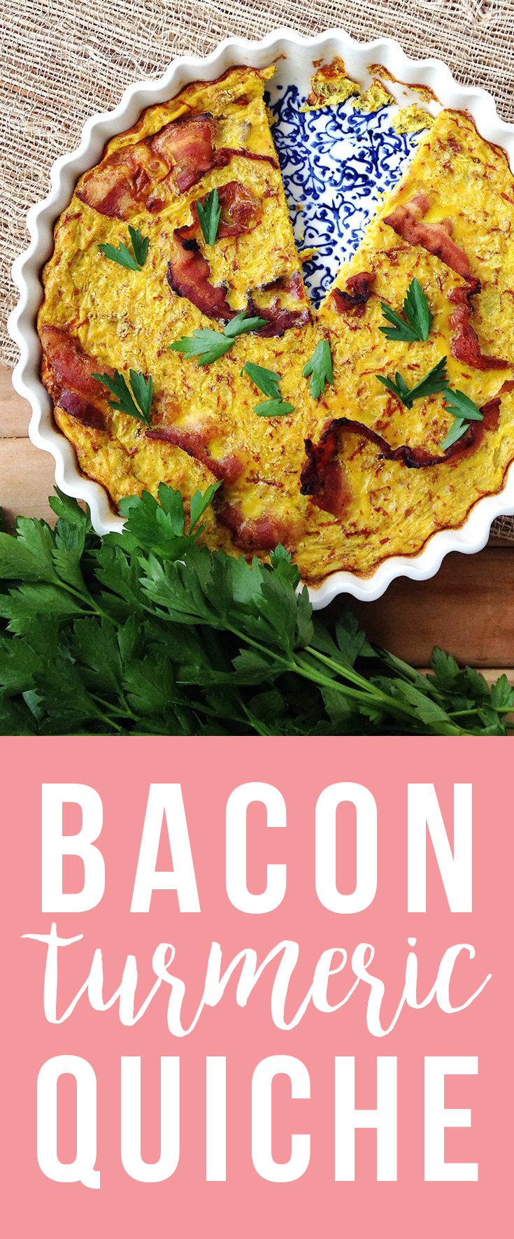 The combination of bacon, turmeric and parsley makes for a quick, easy, savory meal.