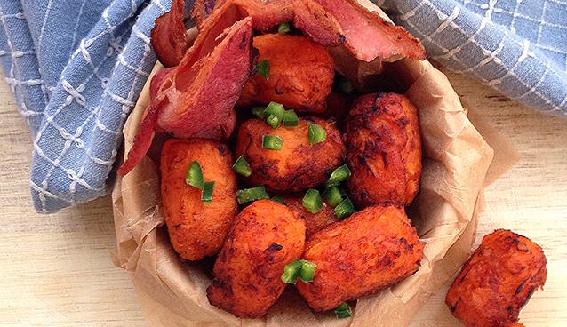 Sweet Potato Tater Tots from the Frugal Paleo Cookbook | GrokGrub.com
