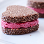 Raw Cookie Sandwiches - 100 Paleo Valentine's Day Recipes (breakfast, drinks, appetizers, entrées and desserts!)   GrokGrub.com