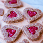 Raw Linzer Cookies - 100 Paleo Valentine's Day Recipes (breakfast, drinks, appetizers, entrées and desserts!)   GrokGrub.com