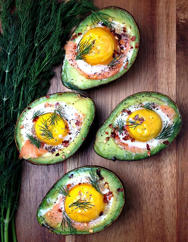 Smoked Salmon Egg Stuffed Avocados - 12 Fresh Avocado Recipes   GrokGrub.com