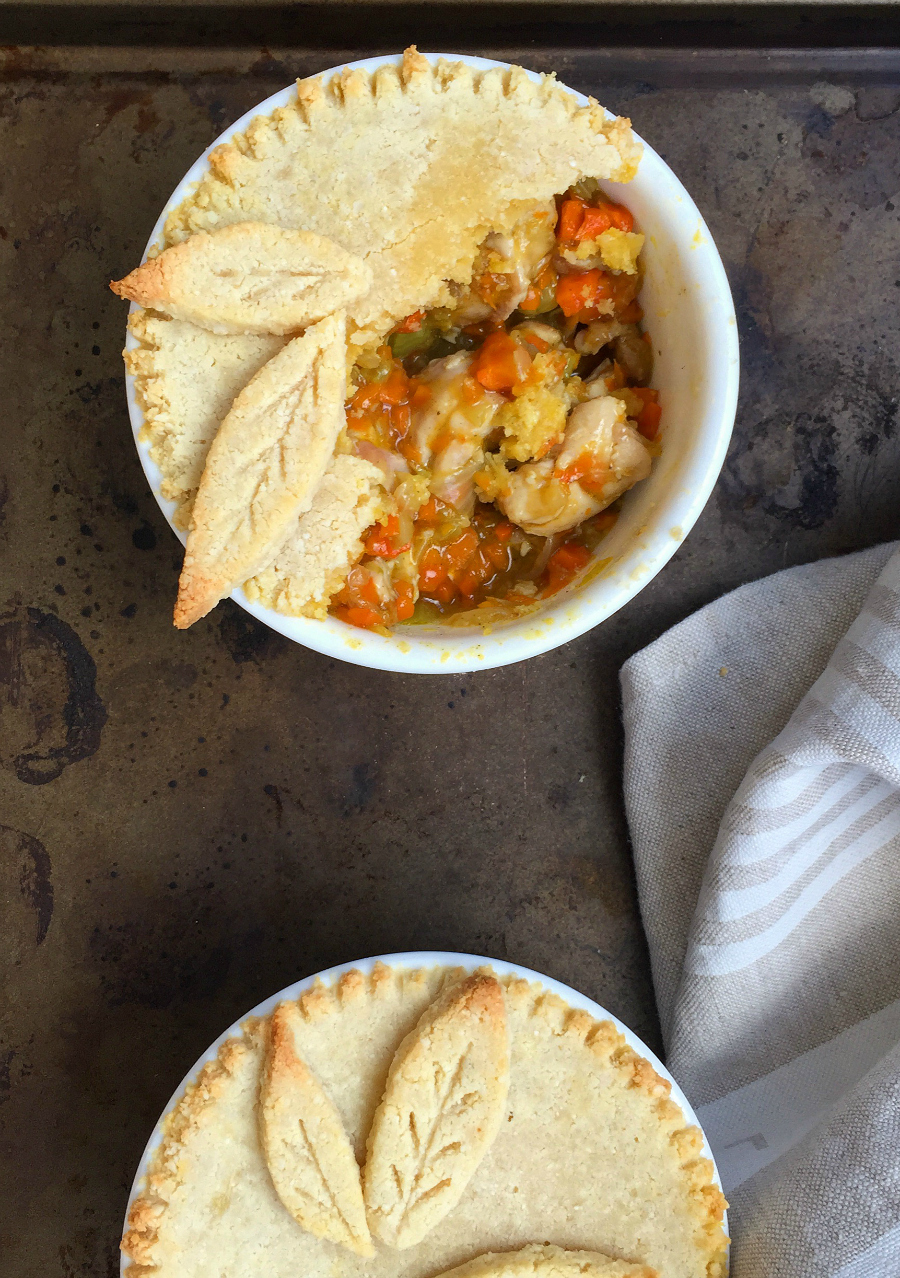 Paleo Pot Pies for Two (grain free, dairy free, low carb) | Fresh Planet Flavor