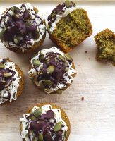These green pumpkin-seed cupcakes feature moringa: a vitamin-rich superfood plant that's more nutritious than kale! #healthy #glutenfree #paleo | GrokGrub.com