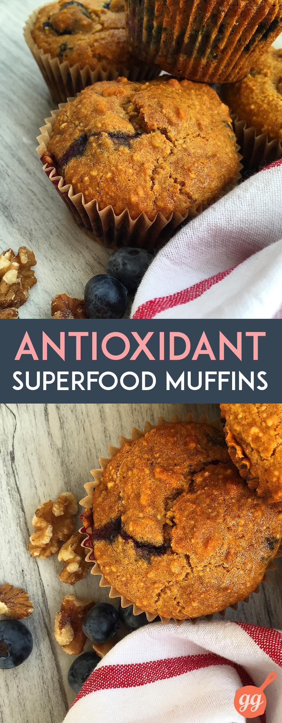 Antioxidant Superfood Muffins (grain free, dairy free, refined sugar free, paleo)   GrokGrub.com