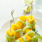 Spicy Mango Cucumber Skewers: 75 Healthy Kid-Friendly Snacks (allergy-friendly for every occasion)   GrokGrub.com
