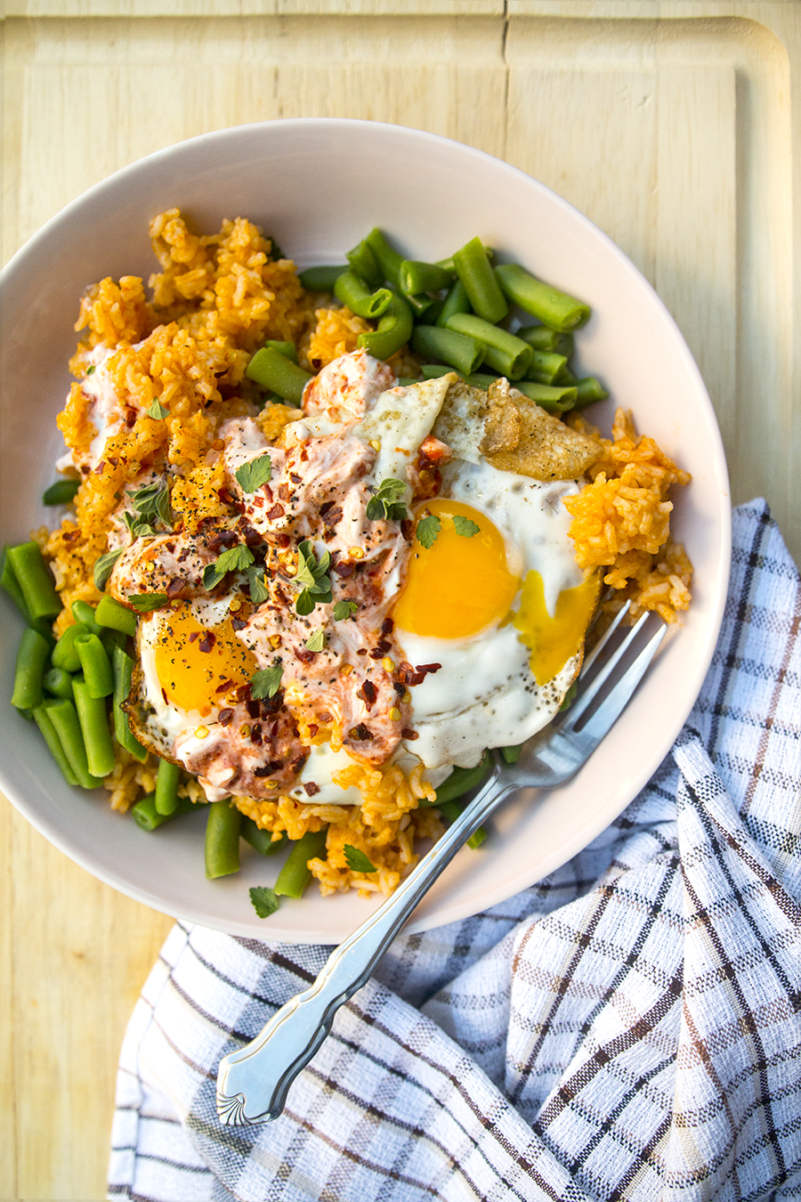 Easy Sunny-Side-Up Eggs in Chili Garlic Yogurt | Fresh Planet Flavor
