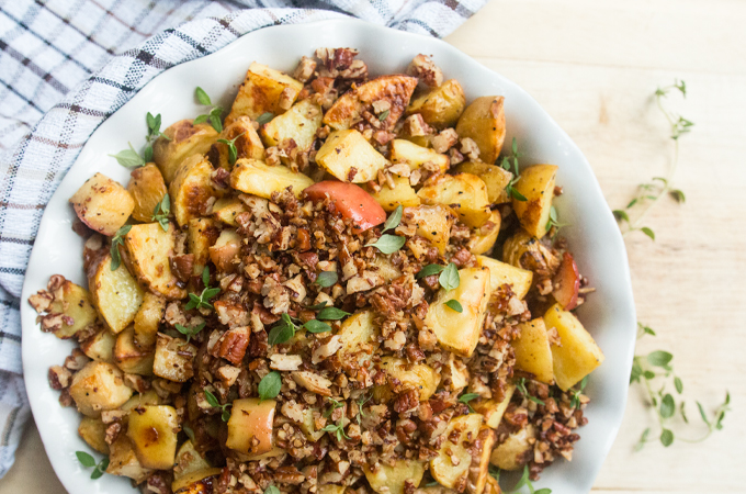 Mustard-Roasted Potatoes & Apples | Fresh Planet Flavor