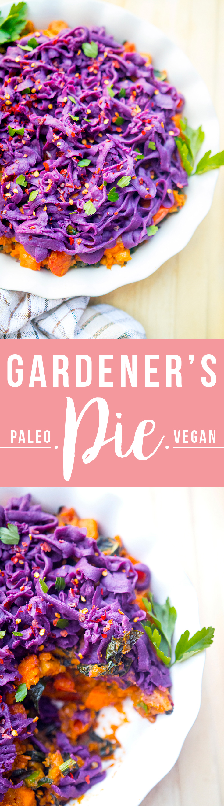 Gardener's Pie (curried vegetables under a purple sweet potato topping) with Imperfect Produce, a startup that helps prevent food waste.   Fresh Planet Flavor