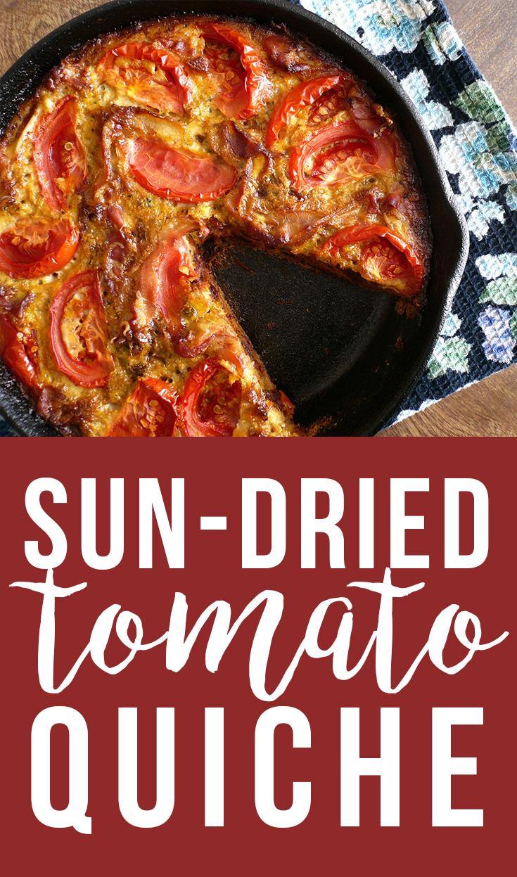 Sun-dried tomato quiche, nom!