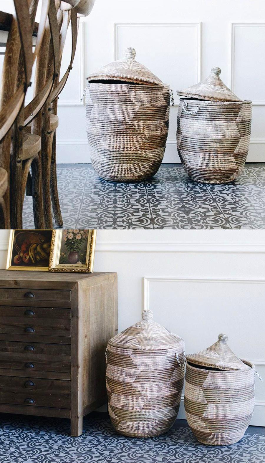 Fair Trade Baskets and Woven Bowls - Rose African Basket Hamper